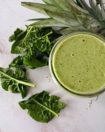 smoothie vert et énergisant