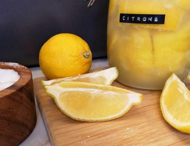 Citrons confits au sel (lacto-fermentés)