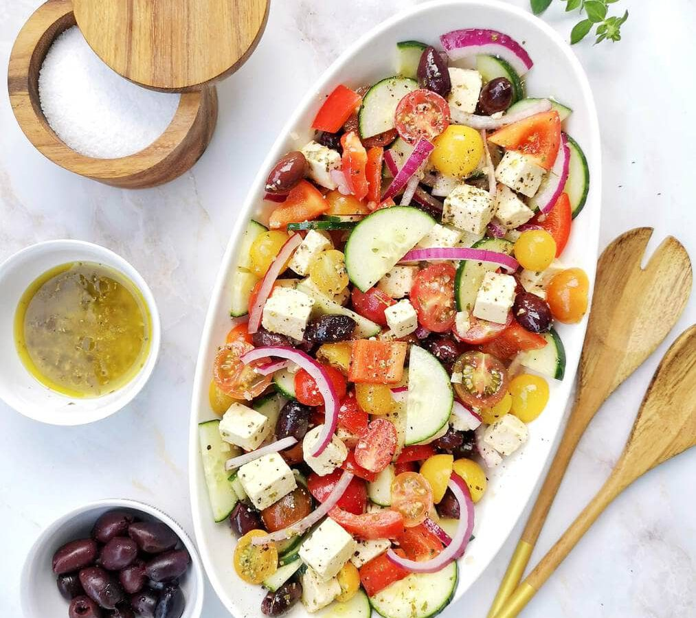 salade grecque vegane