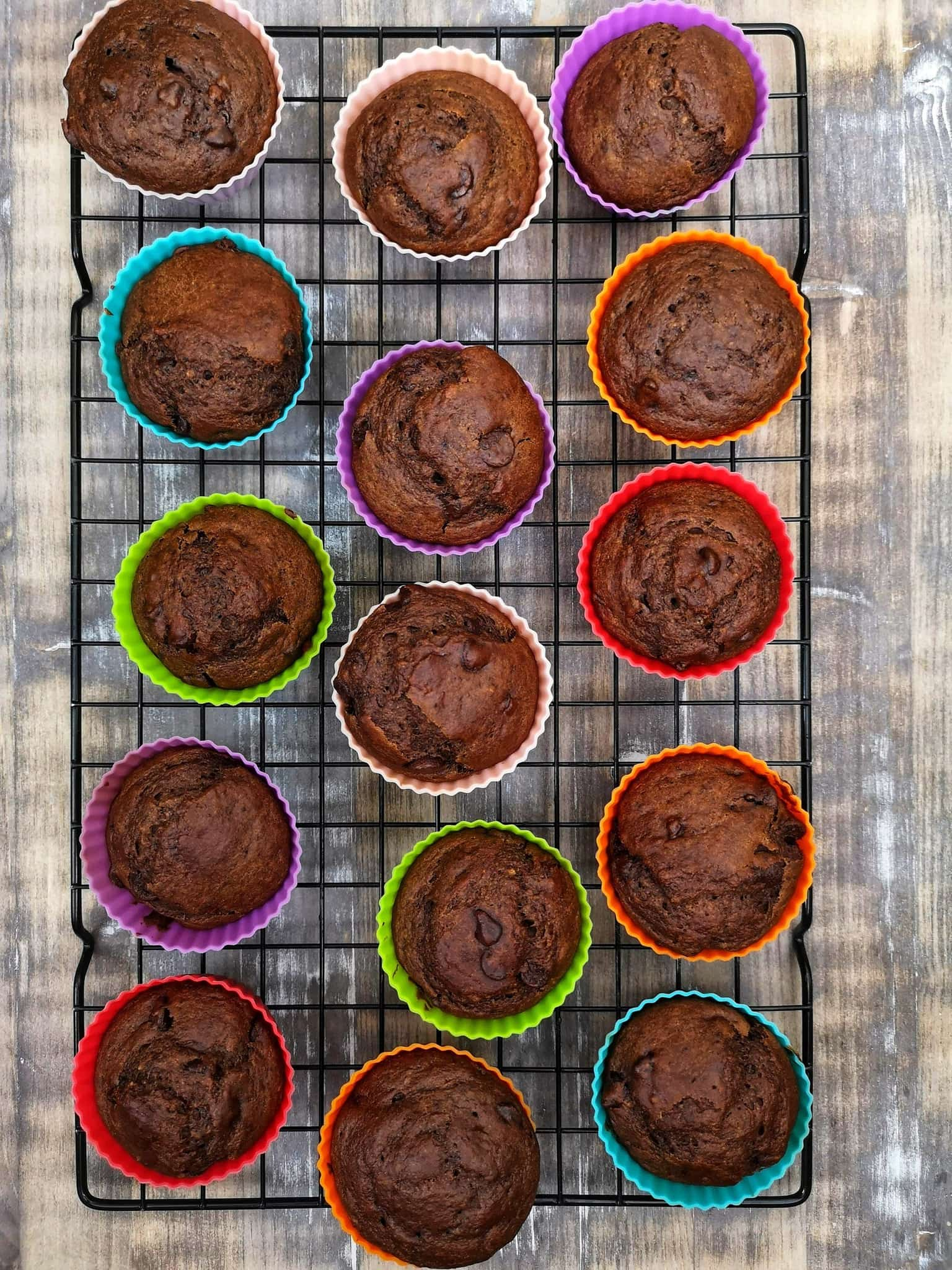 Muffins chocolats moules en silicone