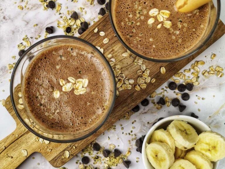 Smoothie déjeuner choco-café