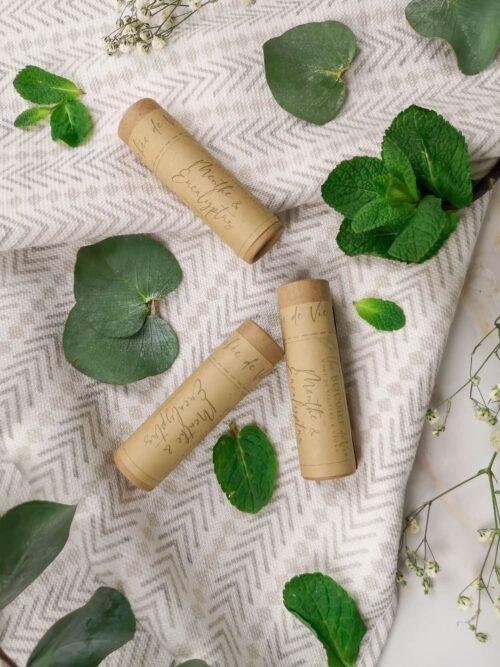 Baume à lèvres végan - Menthe et eucalyptus