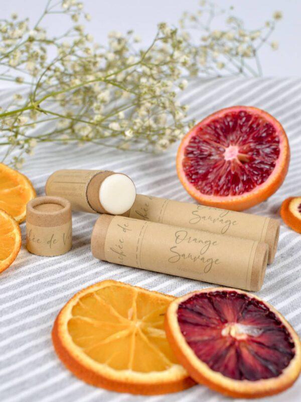 Baume à lèvres végan - Orange sauvage