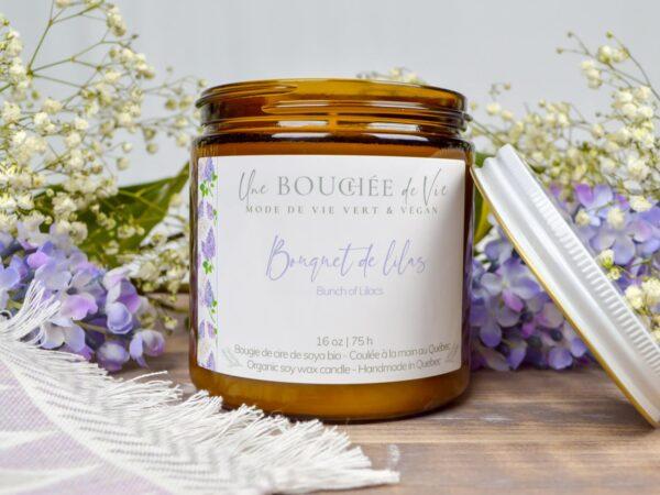 Bougie de soya- Bouquet de lilas