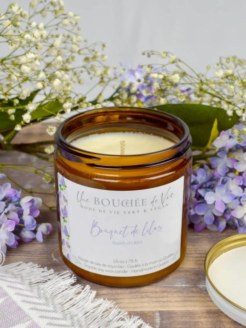 Bougie de soya - Bouquet de lilas