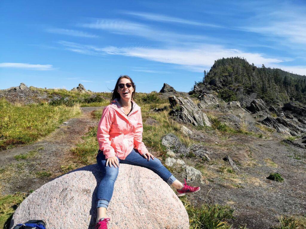 steph sur une roche